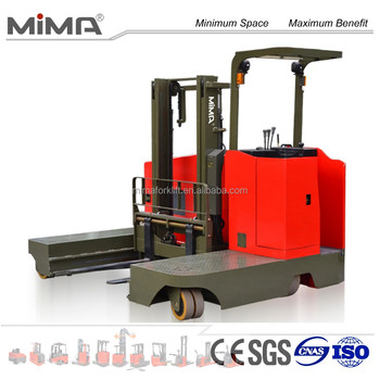 MIMA Electric side loader forklift truck with trolley