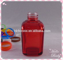 Large bottle 15ml 30ml clear glass empty square nail polish bottle gel nail polish bottle