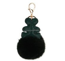 Fur pom pom for hair band/rabbit fur pompon keychain colorfurl rex rabbit fur balls