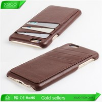 luxury leahter card case for iPhone 6, for iPhone 6 card case luxury case