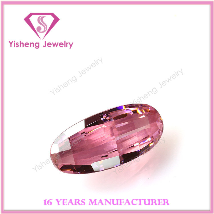 Special shape lucky pink loose cubic zirconia stone diamonds price