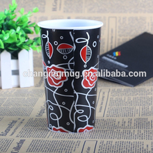 metallic aluminum foil non one time hot and cold plastic soft drink cup