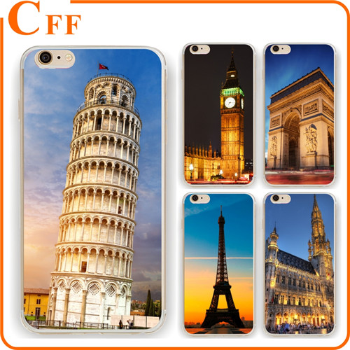 Famous Sights Landscape London Big Ben Silicone TPU soft Scenery Phone Case Cover For iPhone 5s 6 6s SE 7 Plus Capes Paris