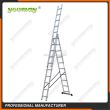 TUV/GS EN131 Aluminum 3 section Combination ladder with extension steps ,AC0311A,3X11 steps