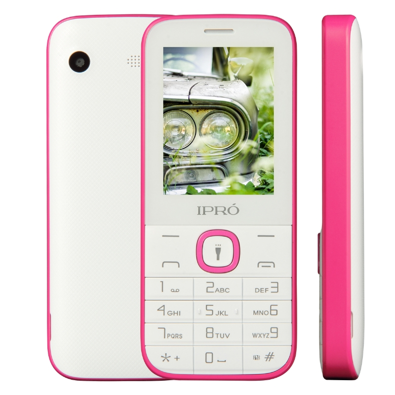 "IPRO New model i324F 2.4"" inch QVGA multi colors feature mobile phone cellular handphone with 1000 mah big battery with torch"