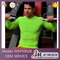 High quality Fitness sport clothes green tight breathable gyms wear for men