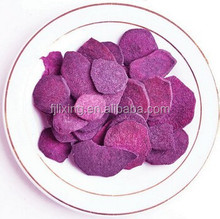 Freeze-dried purple sweet potato slice 5-7mm sliced shape in bulk/small bags package