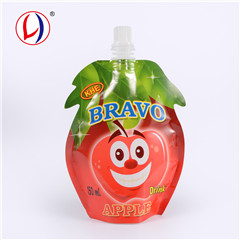 Portable Child Proof Smooth Stand Up Spout Drink Pouch Plastic Jelly Packaging For Refill