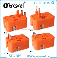 Universal Travel Adapter Portable Universal Charger - Power Adapter with 2 USB Ports