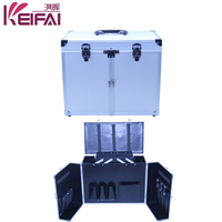 Best Price Hair Stylist Train Case Makeup Bag With 2 Trays