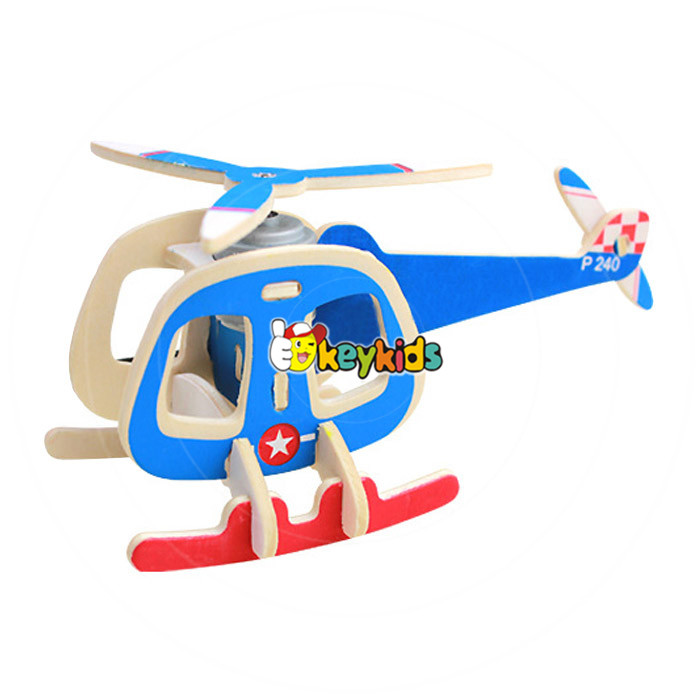 2017 wholesale kids airplane build kit wooden assembly toys new design children wooden assembly toys W03B068