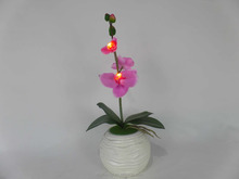 Sleek realistic decorative artificial flower with led lights