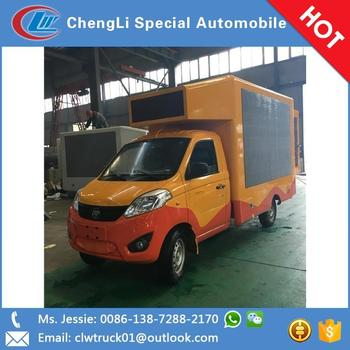 Hot sale three side led screen mobile advertising truck , led mobile advertising cars for sale