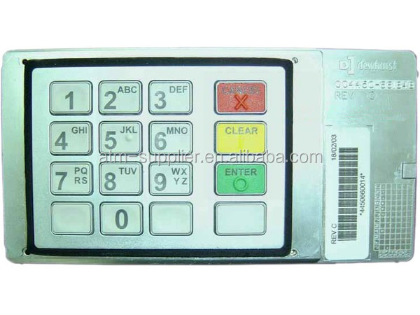 ATM part ATM machine keypad 445-0660014 NCR EPP keyboard for 5886 in English Version 4450660014