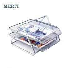 wire mesh office 3 layer document container