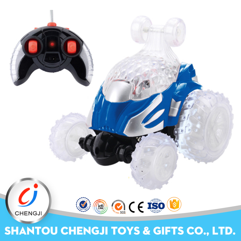 Shantou factory four channel remote control make your own toy car with light