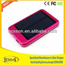 5000mAh solar mobile charger for iPhone/Samsung/Blackberry , solar charger 5000mah with 5V solar panel