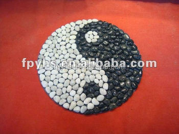 black pebble floor mat