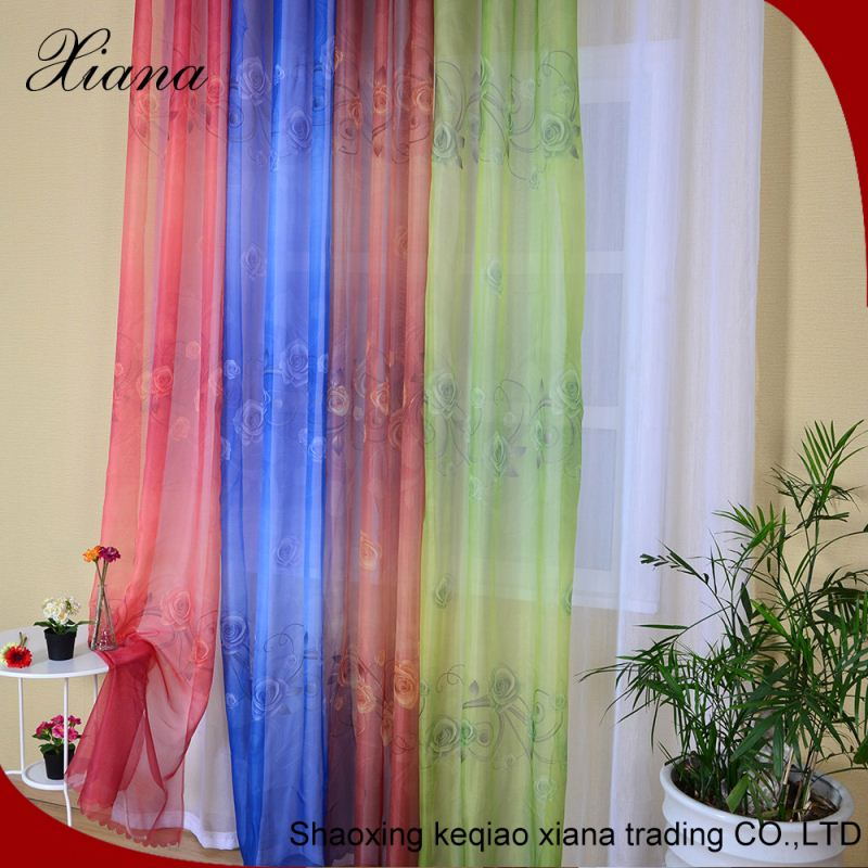 2016 Elegant Quality ready made curtain for living room