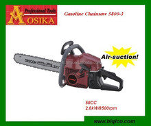 new 25cc 45cc 52cc 58cc 62cc 72cc 78cc gasoline chain saw 5800 58cc yd58 with easy starter 2.4Kw/7500rpm HS84678100