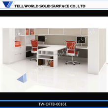 White Artificial Marble Office Desk Modern Table For Office