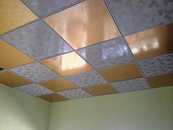 Cover ceiling tiles