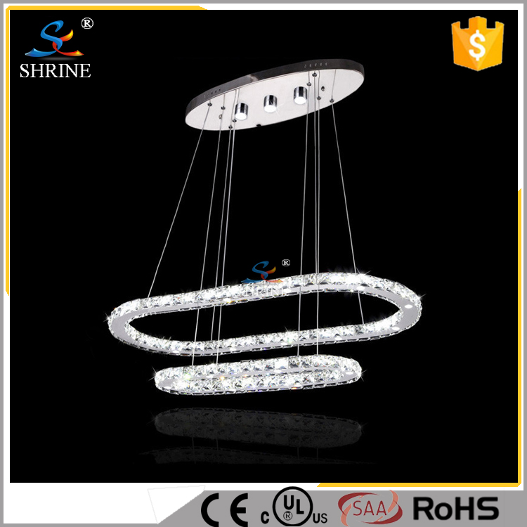 SMD Crystal Double Ring Crystal LED Magic Light Pendant Lamp