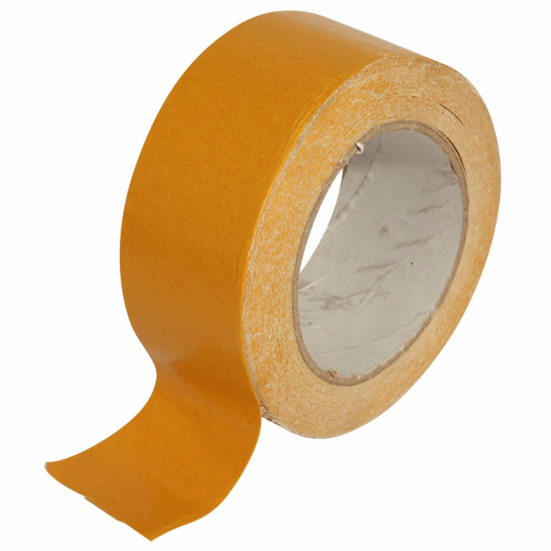 Free Sample Wholesale 250mic Hot Melt Adhesive Double Sided Cloth Tape Jumbo Roll For Carpet Fixing