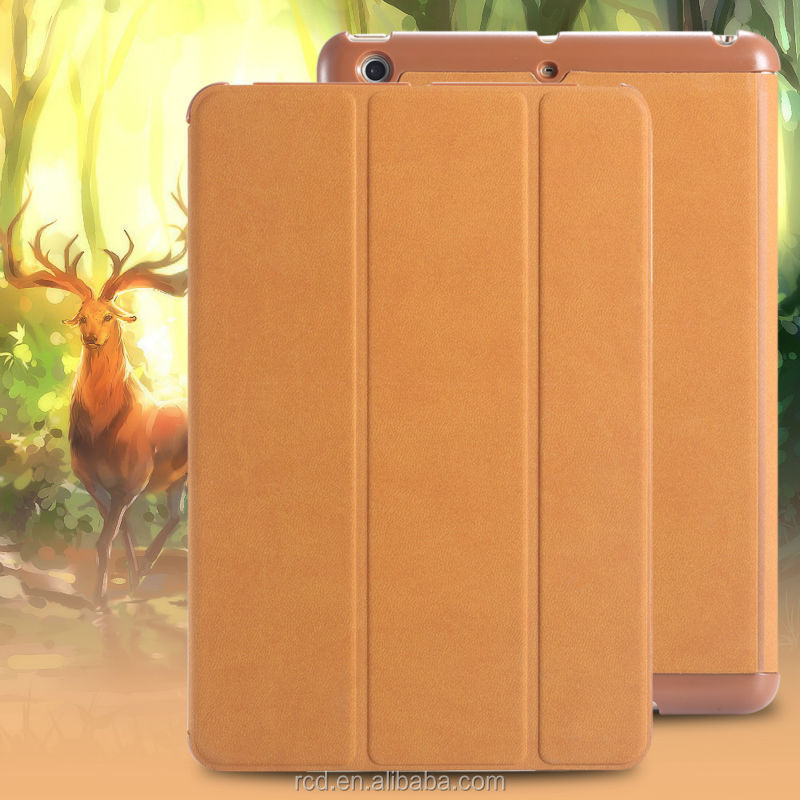 Case For iPad MIni 2, Deer Grain Leather Flip Case For Apple FLOVEME Mini 2, For iPad Mini 2 Case Smart Cover