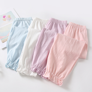 Kids Stripe Loose Trousers Lantern Pants 2 pack Little Girls Summer Anti Mosquito Pants Bloomers