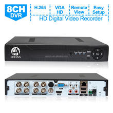 JOOAN High quality 8 Channel 1080N Hybrid 5-in-1 AHD DVR CCTV H.264 AHD DVR