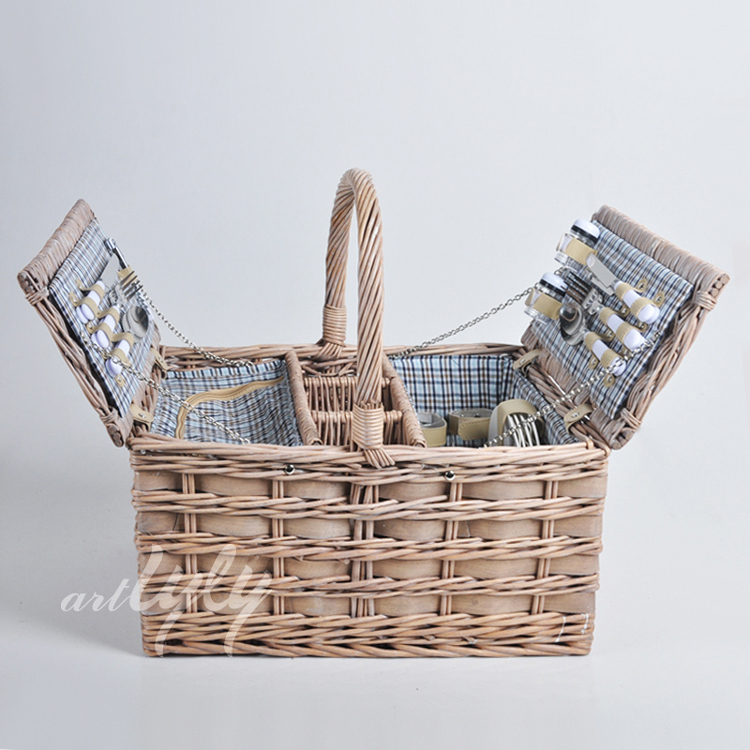 wholesale woodchip weaving picnic basket