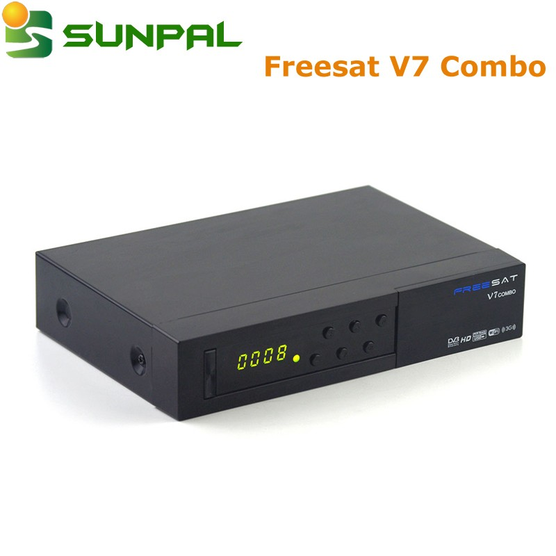 Freesat V7 Combo DVB-S2+T2 MPEG4 Full 1080P FTA Satellite Receiver IPTV Decoder v7 combo freesat tv box
