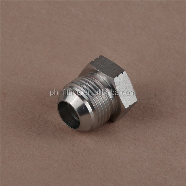 Male JIC 74deg Cone Seal Plug hydraulic adapter