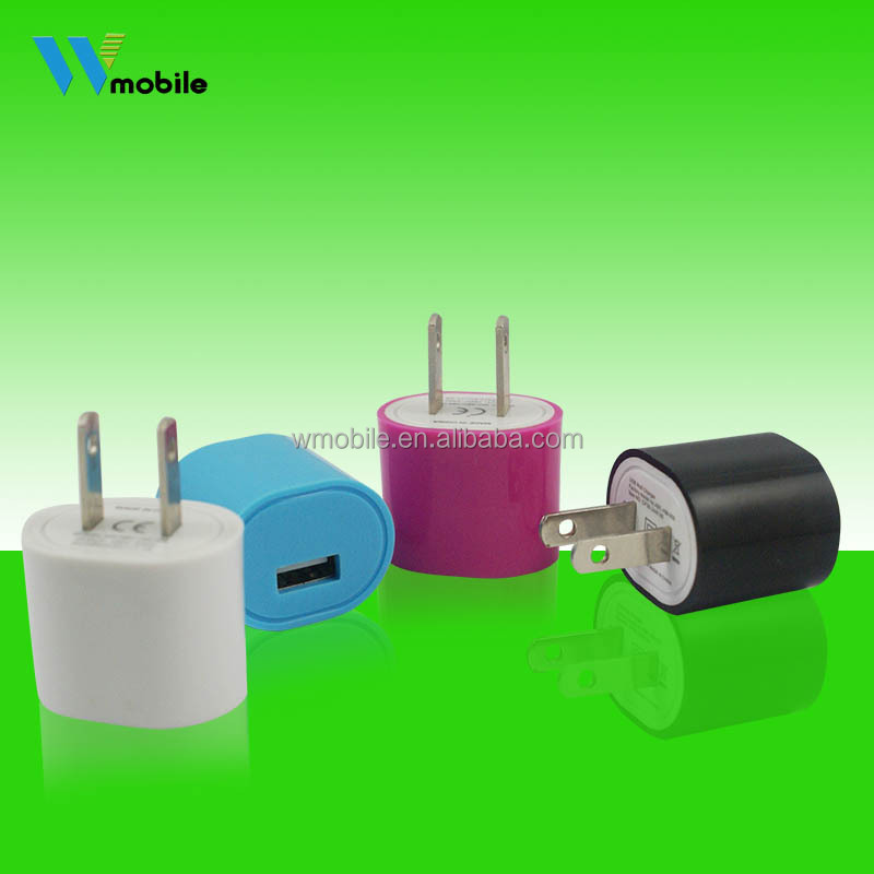 Hot Selling 5V 1A Slim Flat USB Wall charger for iPhone/ipad/ipod/ samsung