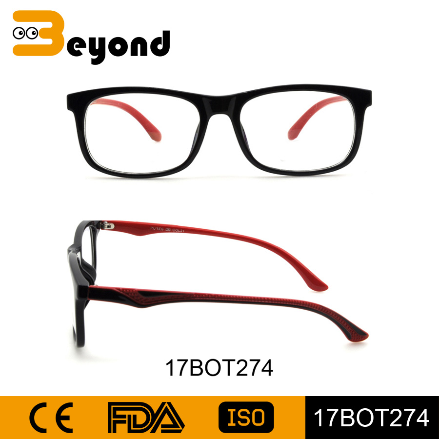 China factory wholesale magnetic holder fashion double color matte black TR90 wholesale eyeglass optical eye glass frames