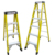 Factory price strengthen fiberglass foldable easy store wide step ladder