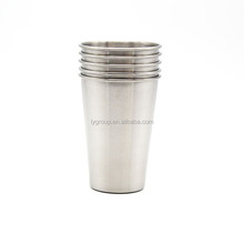 500ml 304 single wall stainless steel pint cup,Stackable 17 oz Brushed Stainless Steel beer Cup
