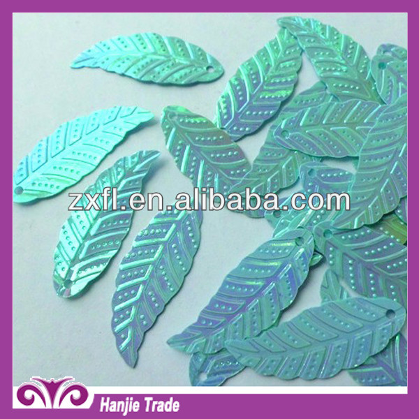 Bulk Loose Blue Leaf Metallic Sequin for Table Cloth