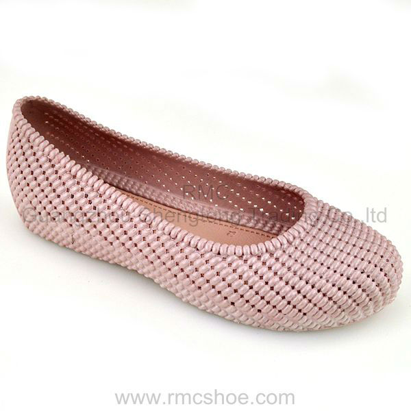 RMC once injection hole PVC jelly flat sandal Arab shoes for women