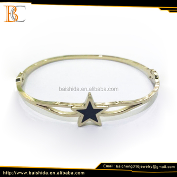 Fashionable And Elegant New Gold Stainless Steel Bracelet /Bangle for Lady
