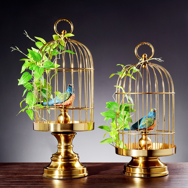 handmade iron bird cage metal craft ornaments