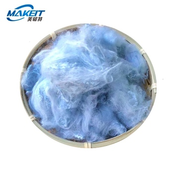 Makeit Dope Dyed  non-siliconized recycled Polyester Staple synthetic Fiber for yarn spinning stuffing material