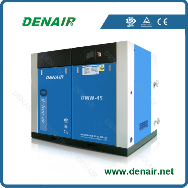 hot sale! dry oil free screw air compressor for clean air