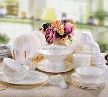 Factory direct Resturant exportor porcelain wedding crockery with best quality dinner set