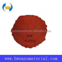 China supplier ultra fine red pigment nano Fe2O3/ Ferric Oxide powders