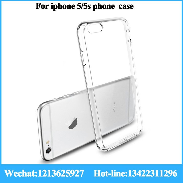 high quality 0.3mm/0.5mm/0.6mm tpu bumper pc phone case for iphone5/5s/5c tpu phone case machine tpu phone case