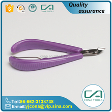 Newest Sale Plastic Handle Sharp Cuticle Nipper For Manicure Pedicure Tool