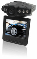 Portable Car DVR F198B with 2.5 inch Screen 120 Degree Wide Angle 6 IR LED Night vision Chinese/English/Portuguese/Russian
