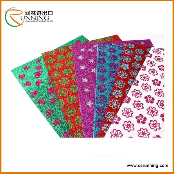 Top quantity glitter printed eva foam sheet raw eva material for child